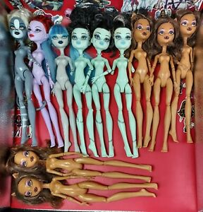 Monster High Doll, Bundle x 11, Clawdeen, Ghoulia, OOAK, Spares, Parts, Pls Read