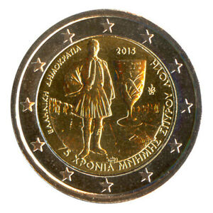 2 Euro Münze Griechenland 2015 Olympionik Spyros Louis Gedenkmünze Sondermünze