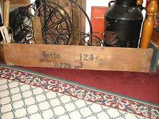 Antique Mercedes Benz Wood Plank Board Shipping Box-Netto-Wall Art-LQQK
