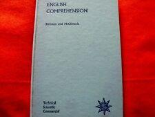ENGLISH COMPREHENSION, 1959 School Book.