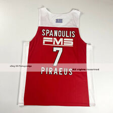 Greece Vassilis Spanoulis #7 Piraeus Basketball Jerseys Custom Names Stitched
