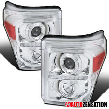 For 2011-2016 Ford F250 F350 F450 F550 Clear LED Halo Rims Projector Headlights