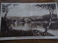 Vtg B/W Postcard BOWNESS BAY from BELLE ISLE WINDERMERE LAKE DISTRICT CUMBRIA