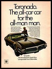 1968 Oldsmobile Toronado 455 Rocket V-8 Engine 400 HP Cowboy Hat Jacket Print Ad