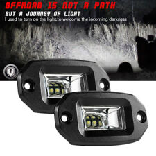 "4.3"" 20W White LED Flood Work Light Bar Offroad ATV Car Flush Mount Parking Lamp"