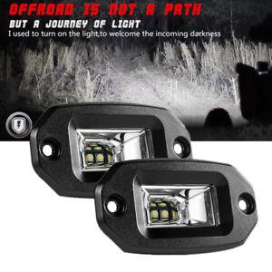 "4.3"" 20W White LED Flood Work Light Bar Offroad ATV Car Flush Mount Parking Lamp"
