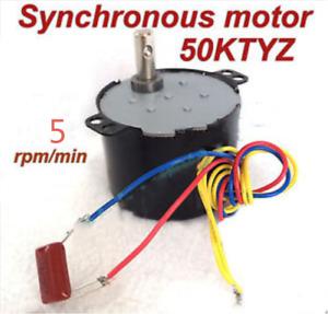 Synchronous Motor 50KTYZ AC 110V 120V 50/60Hz 5 rpm/m CW/CCW 6W Torque 12kgf.cm