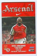 Football Programme - Arsenal v Middlesbrough - Premiership - 14/4/2001