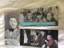 Three Stooges greeting cards, set of 3. 1985, 1986. with original envelopes.