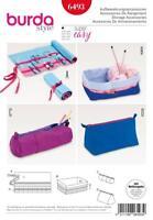 BURDA SEWING PATTERN Roll-up organizer, box and zipped case SEWING ITEMS 6493