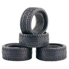 1/10 On-road Rc Car Rubber Tire Set 4pieces For Tamiya TT01 TT02 TT01E TL01