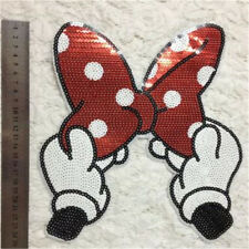 Embroidered Iron On Patches Bowknot Sequins Deal Clothing DIY Applique ITBU