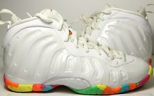 "100% Authentic Nike Air Little One Posite ""Fruity Pebble"" SZ 4Y USED w/ OG BOX"