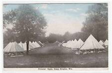 Privates Tents Army Camp Douglas WI 1910s postcard