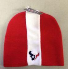 Houston Texans Knit Beanie Winter Hat Toque Skull Cap NEW Skunk - RED