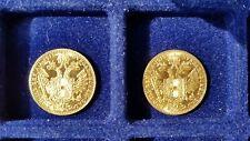 2x Gold Münzen Einfache Dukaten Kaiser Franz Josef - Österreich 1915