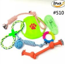 Puppy Dog Rope Pull Puppy Dog Toy Xmas Toys Gift Chew 8 Pack Set