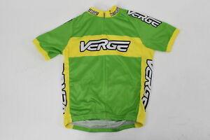 Verge Kid's XL Classic Race Short Sleeve Cycling Jersey Green/Yellow