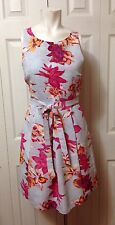 Plenty by Tracy Reese size 8 sleeveless floral dress belted