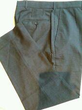 MENS KIRKLAND SIGNATURE GARBADINE WOOL *7*FLAT FRONT  DRESS PANT SLACK 34 x 30