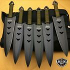 6PC Ninja Tactical Combat Naruto Hunting Throwing Kunai Knife + Leg Sheath NEW