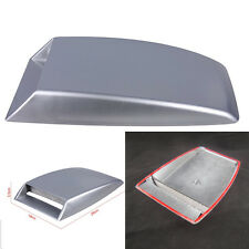 3D Silver Car Decorative Simulation Air Flow Intake Hood Scoop Bonnet Vent Cover