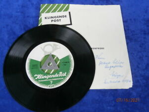 """EP Single 7""""  Klingende Post  FOLGE 7 * Telefunken / Decca 50er *LYS ASSIA*GLAHÉ"""