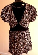 Atmosphere Summer Dress Short Sleeve Stretchy Leaves Pattern Size 12/40
