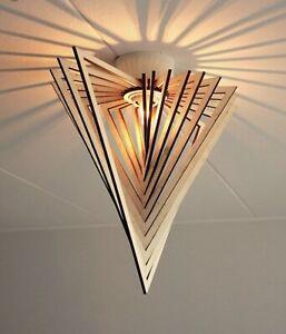 Triangle Design, Pendant Light Shade, Ceiling Light , Birch Wood, 39cm
