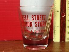Tell Street Liquor Store Shot Glass Tell City, Indiana