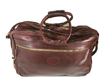 Vintage LL Bean Full Leather Oxblood Travel Bag High Quality Lined C&C Zippers