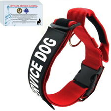 SERVICE DOG Harness Collar with Handle and Reflective Patches + 3 Free ADA Cards