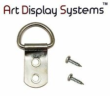 Art Display Systems 2 Hole Heavy Duty Zp D-Ring Hanger 6 1/2 Screws – 50 Pack