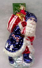 New Slavic Treasures Ornament-Journeyman Santa (Patriotic) 2002