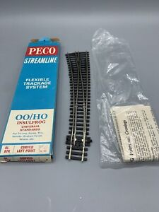 Peco Streamline Flexible Trackage System OO/HO Curved Left Point Model Train