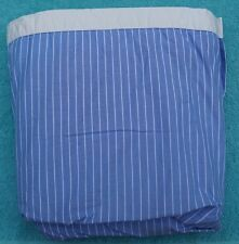 Tommy Hilfiger full bed skirt blue strip with white band