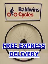 700c REAR Hybrid Bike Wheel - Quick Release - BLACK + 7 SPEED FREEWHEEL