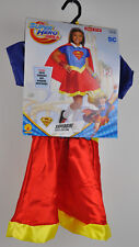 New SUPERGIRL DC Super Hero Girls COSTUME Dress UP Cape Headband NWT Small 4-6