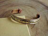 Copper Magnetic Bracelet Arthritis Pain Therapy Energy Cuff Bangle Spiral