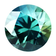 Certified Natural Unheated Teal Sapphire 0.57ct VVS Clarity Brilliant Cut Round