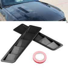 Carbon fiber  Hood Vents Louver Panel Trim Matte ABS Universal for all vehicles