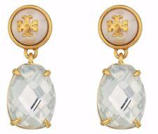 Tory Burch Womens Epoxy Stone Drop Earrings Gold/clear
