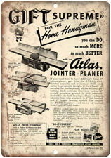"""Atlas Tools Joint-Planer Home Handyman Ad 10"""" X 7"""" Reproduction Metal Sign Z21"""