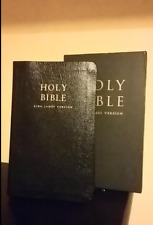 Holy Bible King James Version LEATHER BOUND 1152 pages.Vintage Holy Bible Book.