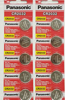 10 x SUPER FRESH Panasonic ECR2032 CR2032 Lithium Battery 3V Coin Cell Exp. 2030