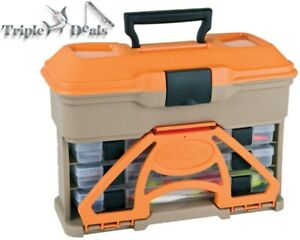 New Flambeau T3 Multiloader 3 Tray Fishing Tackle Box with Bulk Top Storage