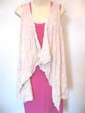 metalicus Waterfall Dancer Vest Cream Sleeveless Merino Wool OS