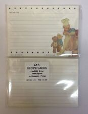 """48 Blank Recipe Cards Plain Double Sided Paper Lined Vintage Style 5"""" x 3.5"""" New"""