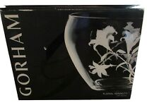 """GORHAM CRYSTAL LILY SERENITY URN BOWL CENTERPIECE 10.5"""" NEW IN THE BOX"""