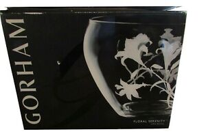 "GORHAM CRYSTAL LILY SERENITY URN BOWL CENTERPIECE 10.5"" NEW IN THE BOX"
